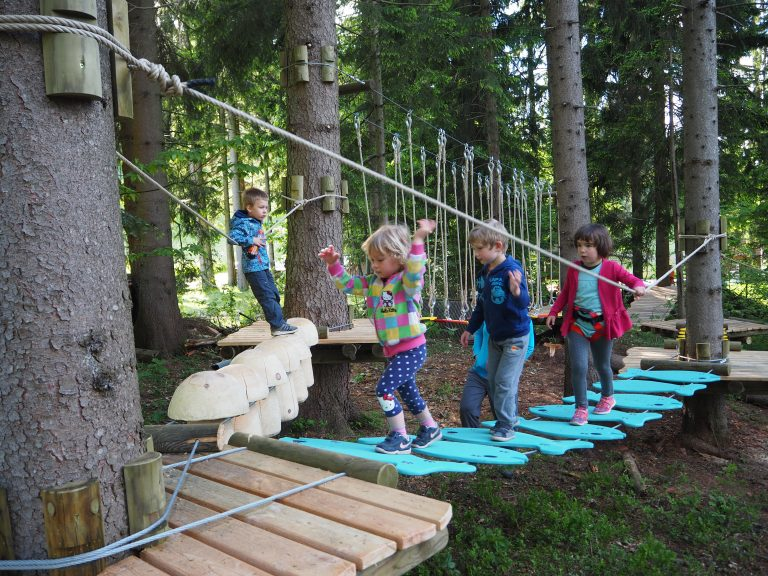 Adventure and Zip-line park on Stari vrh (Slovenia)